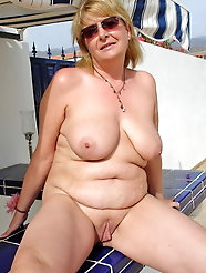Inviting mature grandmas with giant melons