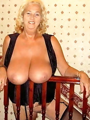 Hot blonde heavy titted granny