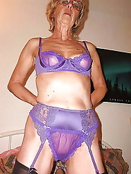 June the sexy Mature Granny Purple Dream 2