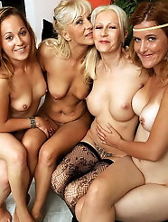 Sensational mature mademoiselles love a big cock so much